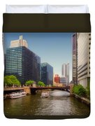 The Chicago River South Branch Duvet Cover