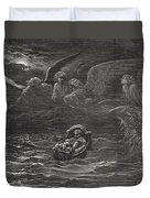 The Child Moses On The Nile Duvet Cover by Gustave Dore