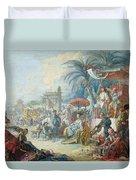 The Chinese Fair, C.1742 Oil On Canvas Duvet Cover