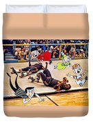 The Chipmunks Skating Roller Derby Duvet Cover