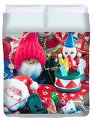 The Christmas Clown II Duvet Cover