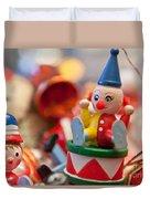 The Christmas Clown  Duvet Cover