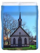 The Church At Billie Creek Duvet Cover
