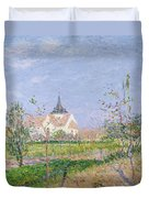 The Church At Vaudreuil Duvet Cover by Gustave Loiseau