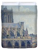 The Church Of St Jacques In Dieppe Duvet Cover by Camille Pissarro