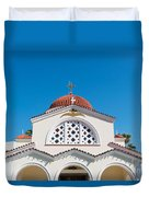 The Church Saints Constantine And Helen Duvet Cover