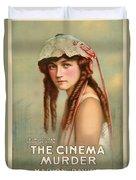 The Cinema Murder  Duvet Cover