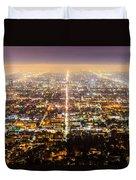 The City Grid Duvet Cover