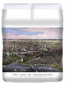 The City Of Washington Birds Eye View Duvet Cover