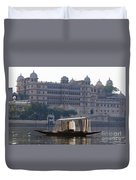 The City Palace, India Duvet Cover