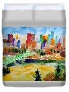 The City Skyline Duvet Cover