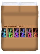 The Clarinet Conga Duvet Cover