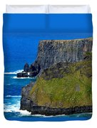 The Cliffs Of Moher In Ireland Duvet Cover