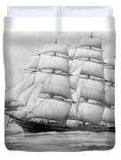 The Clippership Taeping Under Full Sail Duvet Cover