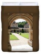 The Cloister Courtyard - Cloister Fontenay Duvet Cover