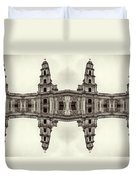 The Clones Of The Church Ruins Sepia Duvet Cover