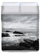 The Cloudy Day In Acadia National Park Maine Duvet Cover