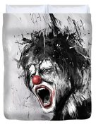 The Clown Duvet Cover by Balazs Solti