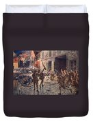 The Coldstream Guards At Landrecies Duvet Cover