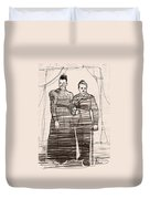 The Colonel And The Mrs Duvet Cover