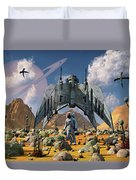 The Colonization Of An Alien World Duvet Cover