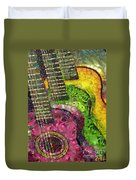 The Color Of Music In The Way Of Arcimboldo Duvet Cover