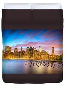 The Color Of New York City Duvet Cover