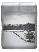 The Color Of Winter - Bw Duvet Cover