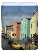 The Colors Of Burano Duvet Cover