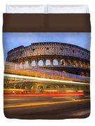 The Colosseum-blue Hour Duvet Cover