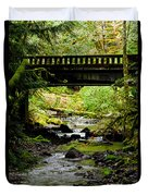 The Coming Of Autumn - Barnes Creek - Lake Crescent - Washington Duvet Cover