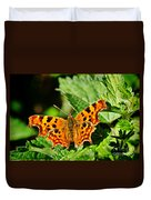 The Comma -- Polygonia C-album Duvet Cover