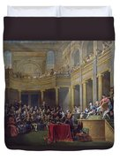 The Committee Of Lyon, 26th January 1802, 1808 Oil On Canvas Duvet Cover
