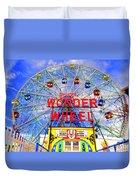 The Coney Island Wonder Wheel Duvet Cover