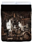 The Coopers Shop - 19th Century Workshop Duvet Cover
