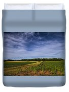 The Corn Fields Of Alabama Duvet Cover