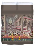 The Coronation Of King William Iv And Queen Adelaide, 1831 Colour Litho Duvet Cover