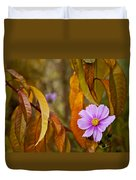 The Cosmos In The Peach Tree Duvet Cover