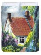 The Cottage Garden Path Duvet Cover
