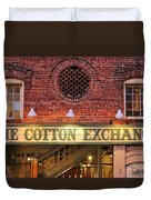 The Cotton Exchange Duvet Cover by Cynthia Guinn