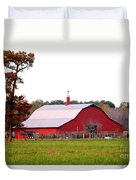 The Country Red Barn Duvet Cover