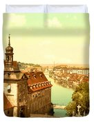 The Court House-bamberg-bavaria-germany - Between 1890 And 1900 Duvet Cover