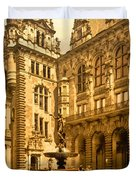 The Court House-hamburg-germany - Between 1890 And 1900 Duvet Cover