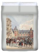 The Court In Chateaus Of The Loire Duvet Cover