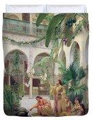 The Court Of The Harem Duvet Cover by Albert Girard