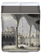 The Court Of The Mosque Of Sultan Duvet Cover