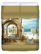 The Courtyard Of A Renaissance Palace Duvet Cover