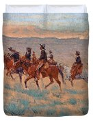 The Cowpunchers Duvet Cover by Frederic Remington