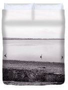 The Cranes In Line Duvet Cover