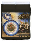 The Creation Of The World And The Expulsion From Paradise Duvet Cover